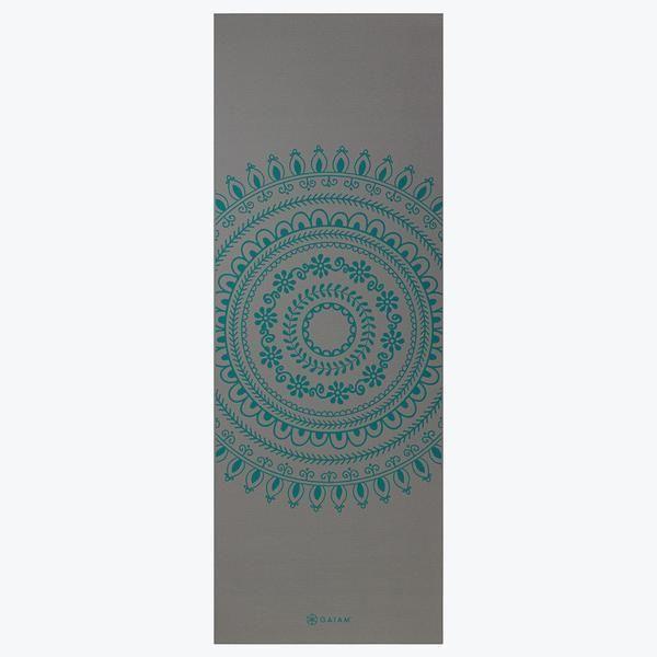 Gaiam Yoga Mat Teal Marrakesh Longer