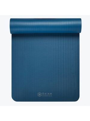 Gaiam Essentials Gray Yoga Mat With Carrier Sling