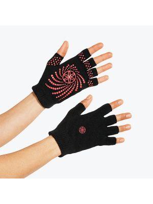 Gaiam Перчатки для йоги розовые