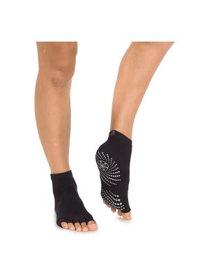 Gaiam Grippy Toeless Granite Yoga Socks