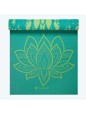 Gaiam Turquoise Lotus Reversible Yoga Mat