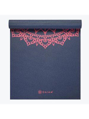 Gaiam Navy Fleur Marrakesh Yoga Mat