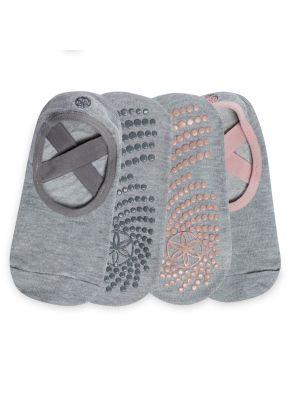 Gaiam Grippy Barre Folkstone 2-pack Yoga Socks