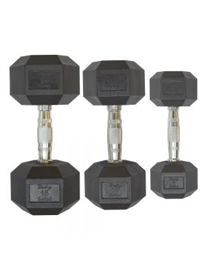 Body Solid Rubber Coated Hex Dumbbell HEXRU гантели