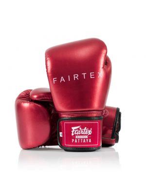 Fairtex BGV22 Metallic Red Leather Boxing Gloves