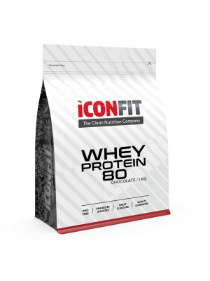 Iconfit Whey Protein 80 1kg Chocolate with STEVIA