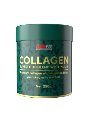 Iconfit Collagen Superfoods + Inulin - Smuutisse 250g Raw Cacao & Berries