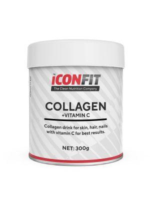 Iconfit Collagen + Vitamin C - для кожи, ногтей, волос 300г Клюква