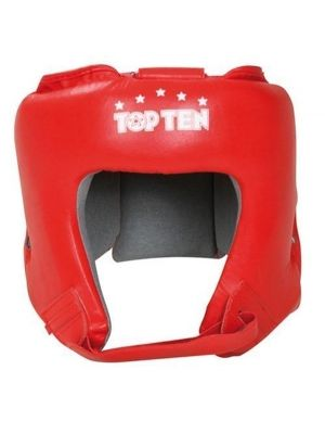 Headguard TOP TEN Leather red S