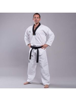 Wacoku Ribbed Black taekwondo uniform