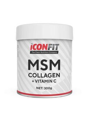 Iconfit MSM Collagen + Vitamin C 300g Apelsini